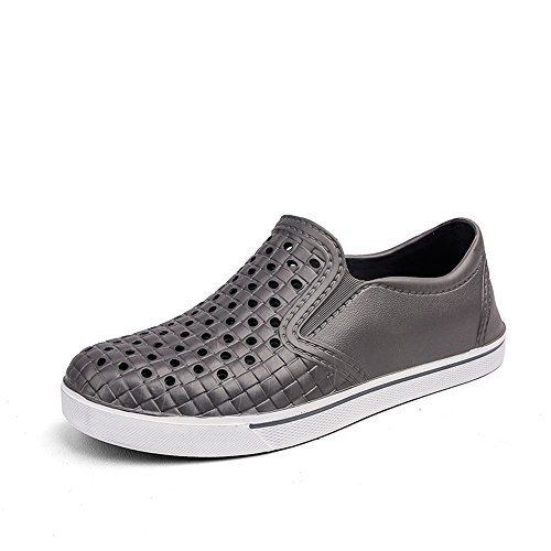 Manera Sandalias Leisure los Beach Shoes Slip Gris On Hueco Pequeño Hombres Avanigo de la Heel s Vamp Flat de w5ZYqpqIx