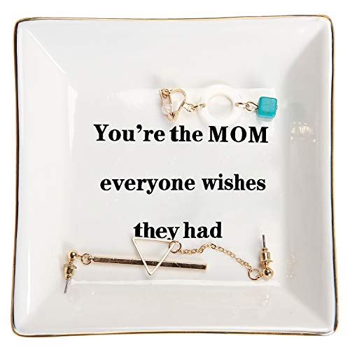 HOME SMILE Mother Birthday Thanksgiving Day Gifts Ring Trinket Dish-You're The Mom Everyone Wishes They Had