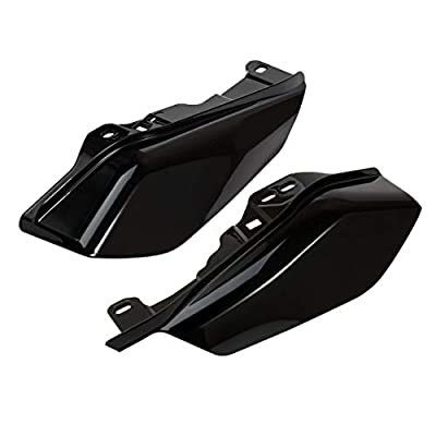 Lalaparts Gloss Black Mid Frame Air Deflectors Compatible for Harley Touring Street Glide Road King Electra Glide 2020-2020: Automotive