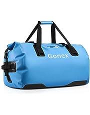 Gonex 40L wasserdichte Reisetasche Sporttasche Seesack Packsack Duffle Bag Rucksack Tasche für Herren Damen Boot Angeln Camping Wandern Outdoor Abenteuer,Hellblau
