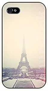 Diy For Iphone 6 Case Cover Eiffel Tower, Paris France. Misty - black plastic Walt Disney And Life Quotes