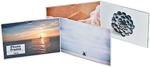 2-pack Horizontal Photo Frame Displays (4x6