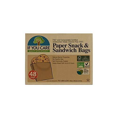 IF YOU CARE Unbleached Sandwich Bags, 48 Count ()