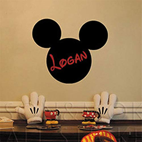 Oisiu Mickey Mouse Wall Sticker Decal Personalized Customize Name Mickey Mouse Ears Vinyl Wall Sticker Art Wallpaper Decals for Kids -