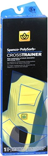 Spenco PolySorb Cross Trainer Insoles #5 1 Pair (Pack of (Spenco Polysorb Cross Trainer)
