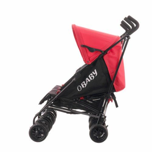 Obaby Mercury Triple Stroller - Black/Red
