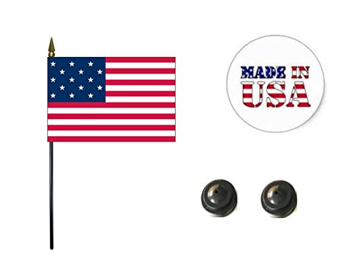 (Made in The USA. 2 Historical 15-Star American 4