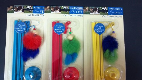 Cat Toy 18 Inch Wand - Cat Teaser Wand 18 Inch Assorted Colors