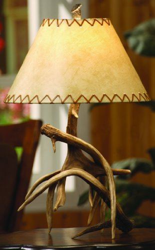 Crestview Collection Trophy Table Lamp - Faux Antler Table