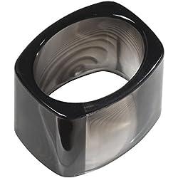 InterDesign Tor Trois Napkin Ring, Black, Set of 4