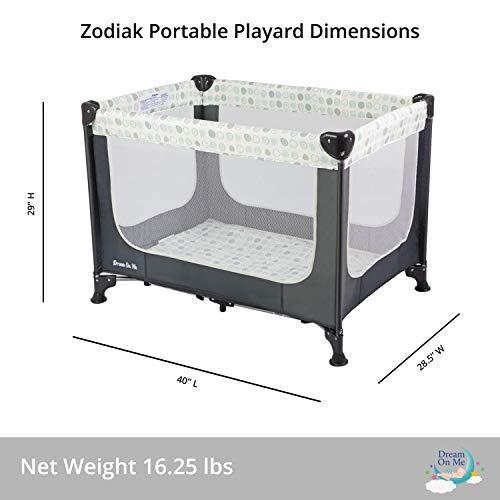 Dream On Me, Zodiak Portable Playard, Grey