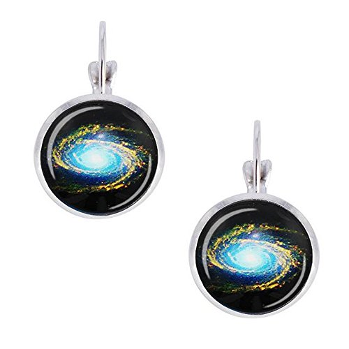 Darkey Wang Woman Fashion Novelty Magical Star Round Glass Earrings(2#)