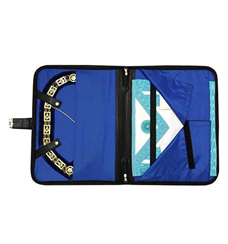 Masonic Regalia Smart Briefcase for apron and chain collar soft handle Black