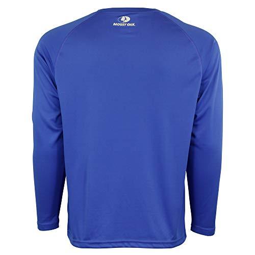 Mossy Oak Fishing Shirts for Men, Long Sleeve, Moisture Wicking, Sun Protection