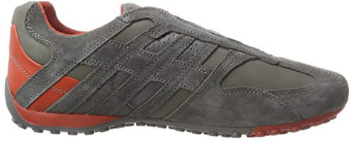 Geox Mens Snake K Walking Scarpa Antracite / Ruggine