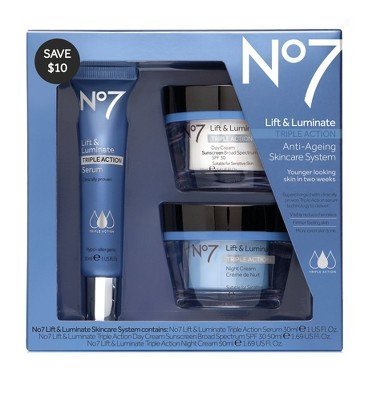 - No7 Lift & Luminate Triple Action Skincare System