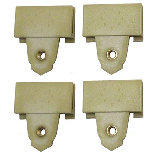 Set of Four Window Regulator Sash Connector Channel Guide Attaching Clips Replacement for Pontiac Oldsmobile 22689012