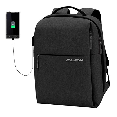 Laptop Backpack, Anti Theft Water Resistant, Travel Computer Bag , Business Backpack for Women & Men USB Charging Port Fits UNDER 15.6