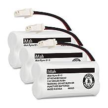 iMah Ryme B1-3 BT162342 BT262342 Cordless Phone Batteries for Vtech CS6409 CS6419 CS6429 CS80100 AT&T CL81101 EL5210 EL52400 Handset Telephone (Pack of 3)