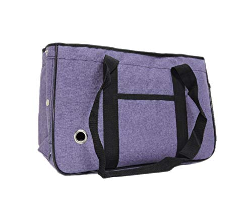 Bagirl Small Medium Dogs Handbag Winter Pet Carrier Tote Pet Cat House Portable Cat Handbag (Large, Purple)