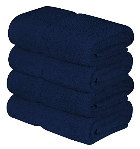 Beauty Threadz 4 Pack Bath Towels 400 GSM (Navy Blue)