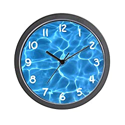 CafePress-Aqua Blue Swimming Pool-Wall Clock