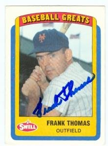 Autograph Warehouse 89335 Frank Thomas Autographed Baseball Card New