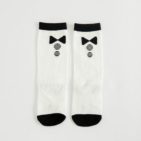 L 4-6 years Qteland Toddler Knee Cute High Socks Infant Stockings Tube Socks for baby 6-pack