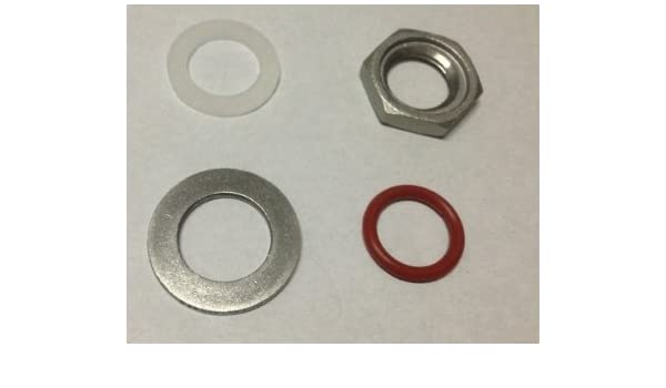 RED EDITION Red High Temp O-Ring with Grooved Locknut for Brew Kettles CONCORD 304 Stainless Steel Weldless Bulkhead Fitting Set 2