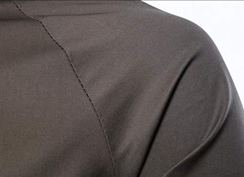 Hooded Casual Button Zip Windbreaker Gocgt 1 Men Jacket Coat WpAqYWZwx