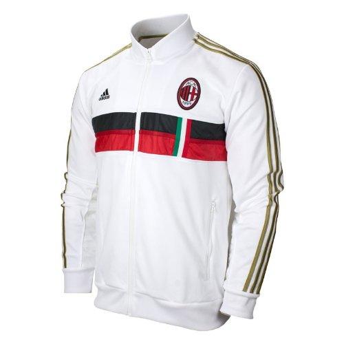 7fb9e75ba0 Amazon.com : ADIDAS AC Milan Anthem Jacket [WHITE/ACMREDHOM/BLACK ...