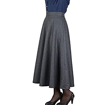 Señoras Vintage De Talle Alto Faldas Acampanadas Hasta La Mode De ...