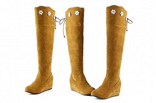 Occidentales 35 Altas Xdx Aumento Amarillo 43 botas Botas De Para Mujer Con Invierno Ug1Fq
