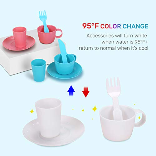 Cute Stone Accessories for Color Changing Kitchen Sink Toys