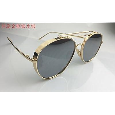 LXKMTYJ Les hommes et les femmes de la mode des lunettes de soleil  polarisées face ronde rétro lunettes concept rue de la  personnalité,D ÉPAISSEUR, ... f79d98bc2574