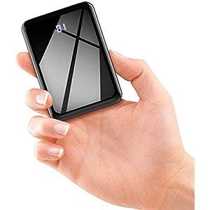 モバイルバッテリー 軽量 小型 13800mAh 大容量 コンパクト 携帯バッテリー (PSE認証済)
