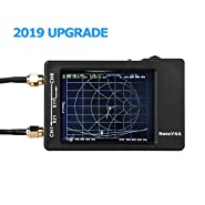Upgraded Vector Network Analyzer 50KHz -900MHz HF VHF UHF Antenna Analyzer,2.8 inch Touch Scree,Measuring S Parameters, Voltage Standing Wave Ratio, Phase, Delay, Smith Chart