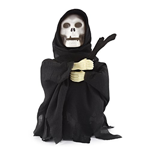 Price comparison product image JOYIN Halloween Animated Dancing Ghost Skeleton Reaper with Light and Creepy Sound Effect