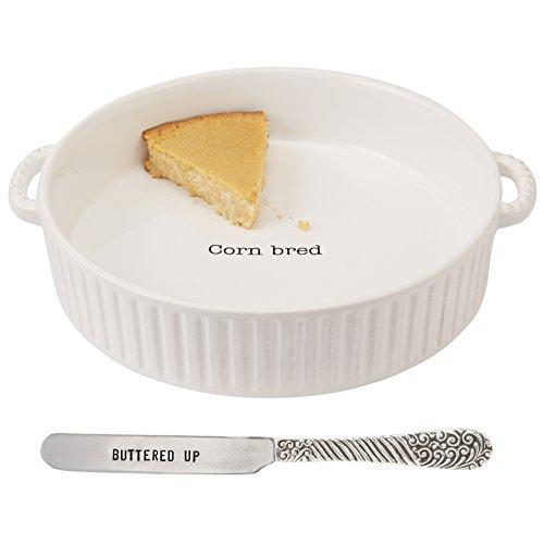 Dinnerware Pie Baker - Mud Pie CORNBREAD BAKER SET