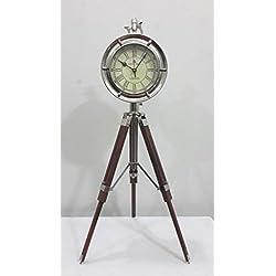 THORINSTRUMENTS (with device) Antique Maritime brass desk clock Nautical Table Clock 2 Diameter vintage