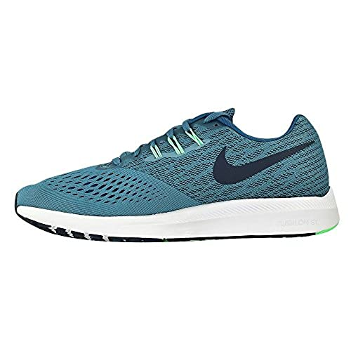 best value 23866 cad33 NIKE Air Zoom Winflo 4 Running Shoes Smokey Blue/Obsidian ...