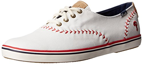 Keds Women's Pennant Fashion Sneaker, Philadelphia Phillies, 9 M (Philadelphia Phillies Womens Fashion)
