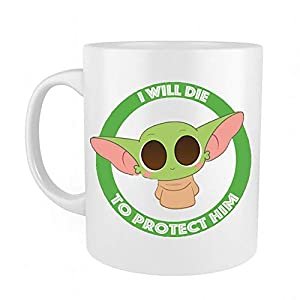 Funny Baby Yoda Mug – Great Gift For Child, Men, Women, Lover with Good Mood Coffee Mug White 11oz Ceramic Mugs Birthday Surprise for Baby Yoda Fans lovers
