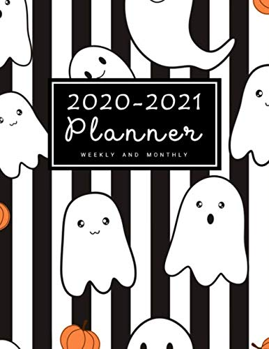 No Halloween Christian (2020-2021 Weekly & Monthly Planner: 2 Year Calendar Schedule, Squares Quad Ruled, Dot Notes, Monthly Goals Setting, Action Plan, No Holiday Halloween Ghost (January 2020 through December)