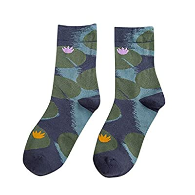 Womens Socks WINJUD Floral Plants Print Thick Knit Warm Crew Socks Gifts Middle Stockings Sock at  Women's Clothing store