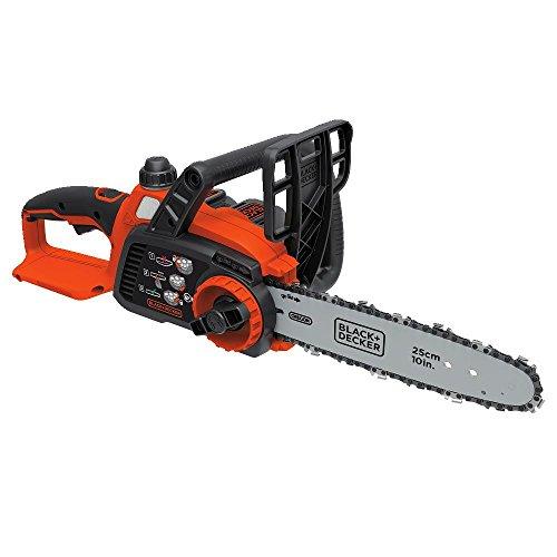 BLACK+DECKER LCS1020 20V Max Lithium Ion Chainsaw, 10-Inch