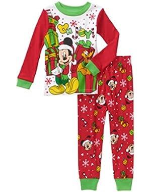Mickey Mouse & Pluto or Minnie Christmas Holiday Toddler Pajamas Sleepwear