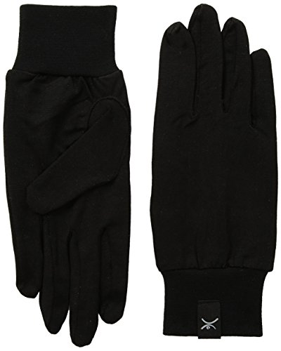 Terramar Adult Thermasilk Ultra-Thin Performance Liner Gloves, Black, Small (6.5-7)