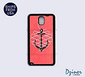 Galaxy Note 3 Case - Pink Pattern Anchor