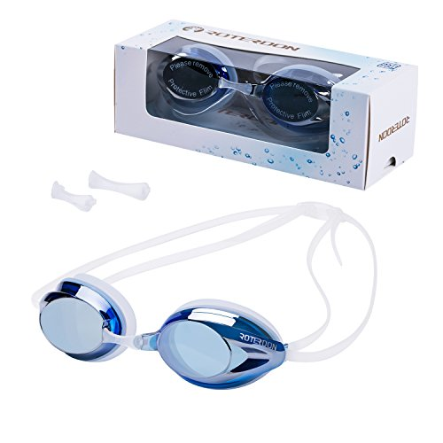 Swimming Goggle, ROTERDON Professional Swim Goggles Anti Fog UV Protection No Leaking for Adult Men Women Kids Swim Goggles Interchangeable Nose Bridge - Swimming Nose Goggles Bridge